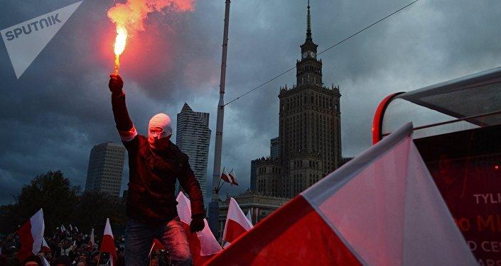 Manifestación en Varsovia, Polonia (archivo)