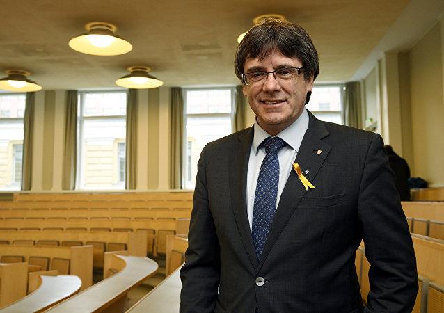 Carles Puigdemont, expresidente de Cataluña