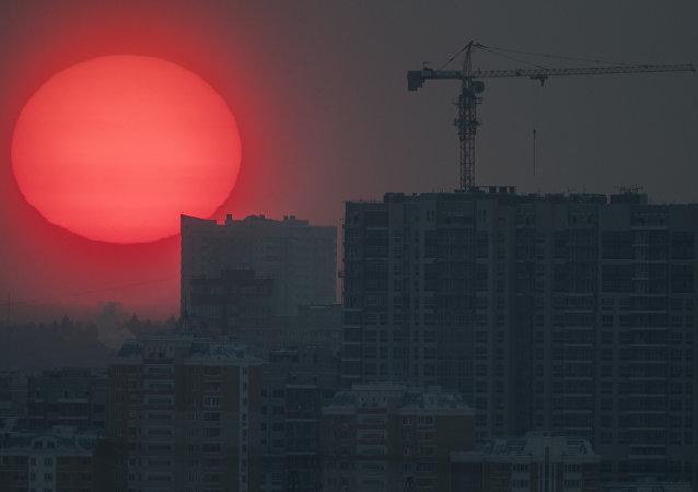 La puesta del Sol en Moscú