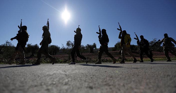 El Ejército Libre Sirio, respaldado por Turquía, en Afrín