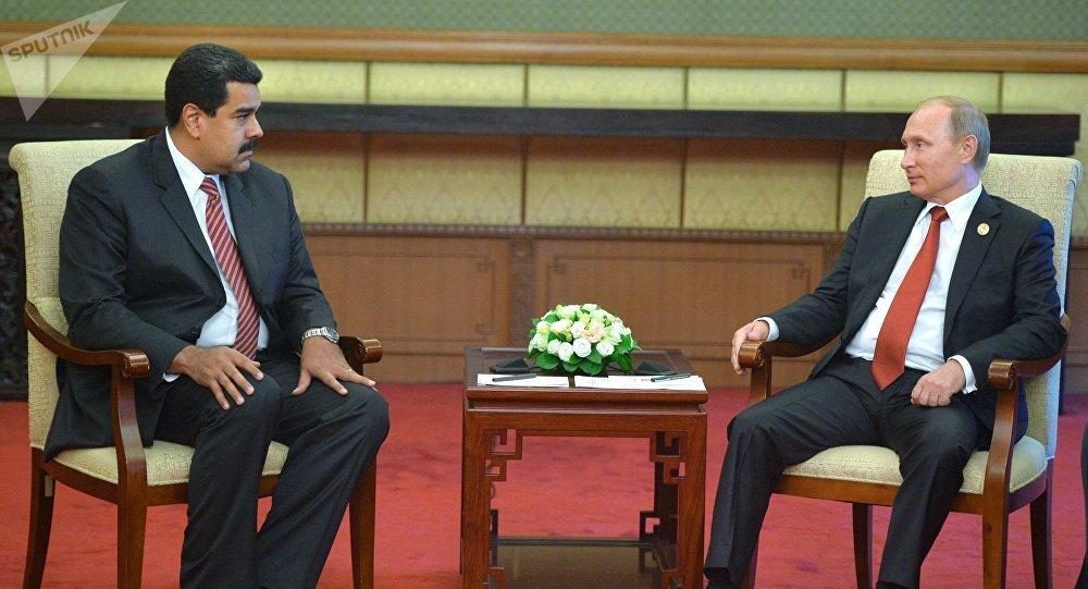 Vladímir Putin, presidente de Rusia, junto a Nicolás Maduro, presidente de Venezuela (archivo)