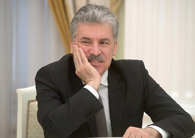 Pável Grudinin, excandidato presidencial por el Partido Comunista