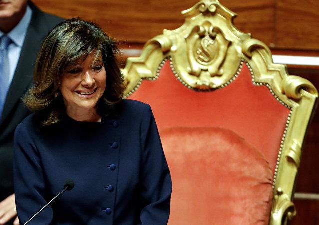 Maria Elisabetta Alberti Casellati, elegida como presidenta de la cámara alta del Parlamento de Italia