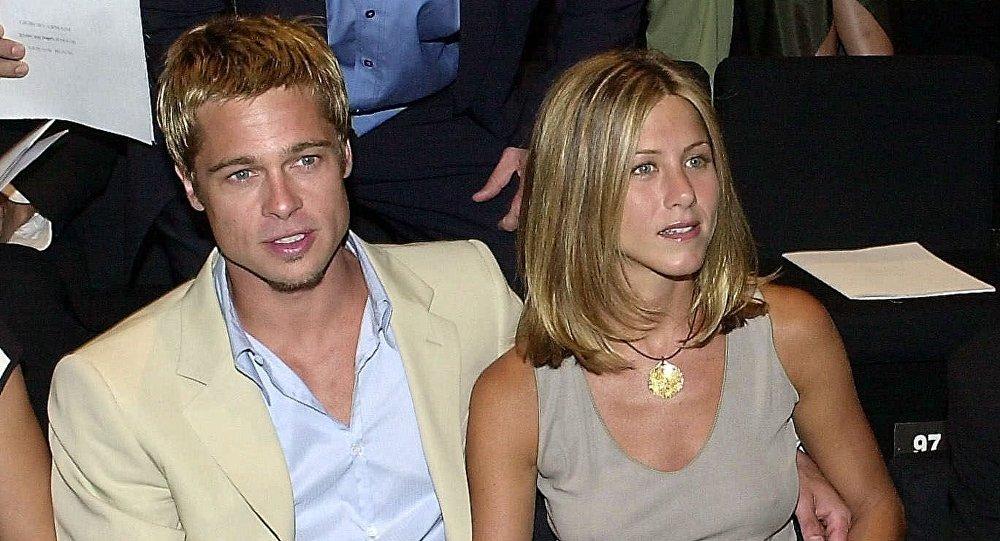 Brad Pitt y Jennifer Aniston, foto de archivo