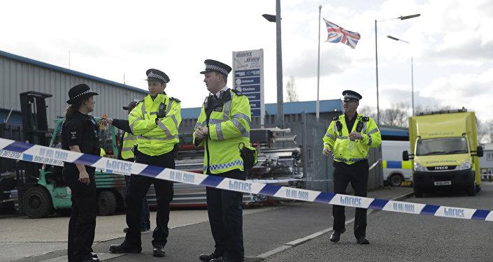 Policías británicos en Salisbury, Inglaterra (archivo)