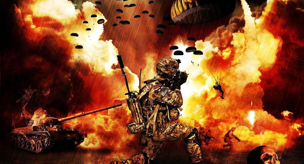 Un soldado de EEUU lucha en una guerra
