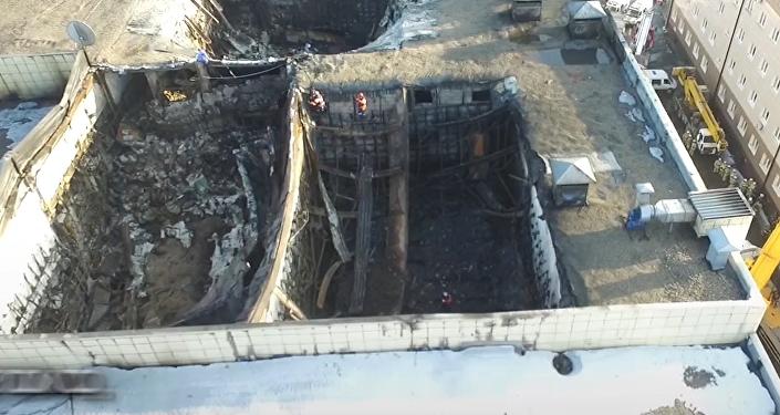 Así quedó el centro comercial de Kémerovo tras el trágico incendio