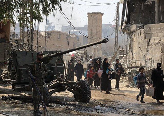 Los civiles en Guta Oriental