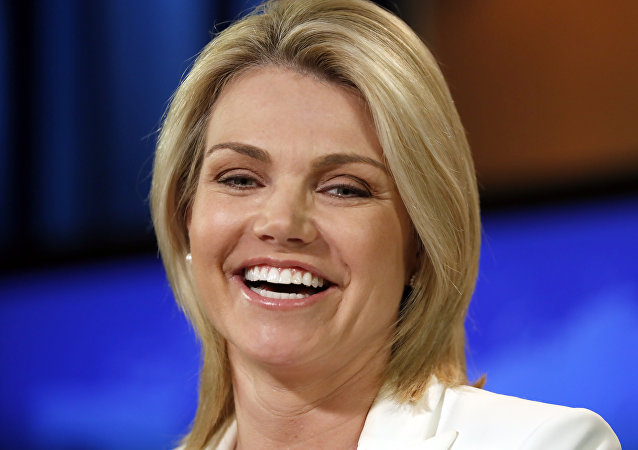 Portavoz del Departamento de Estado de EEUU, Heather Nauert, archivo