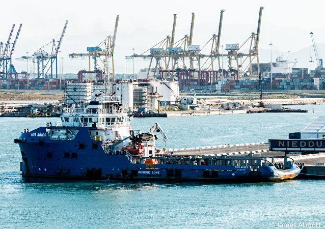 Puerto de Livorno, Italia
