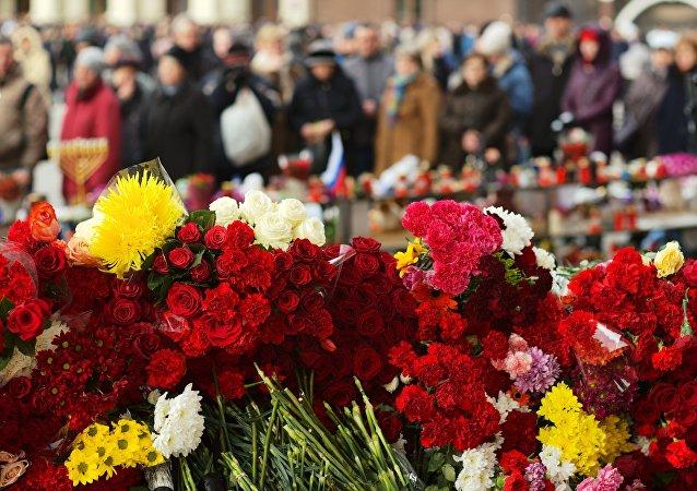 Homenaje a las víctimas del incendio en Kémerovo, Moscú