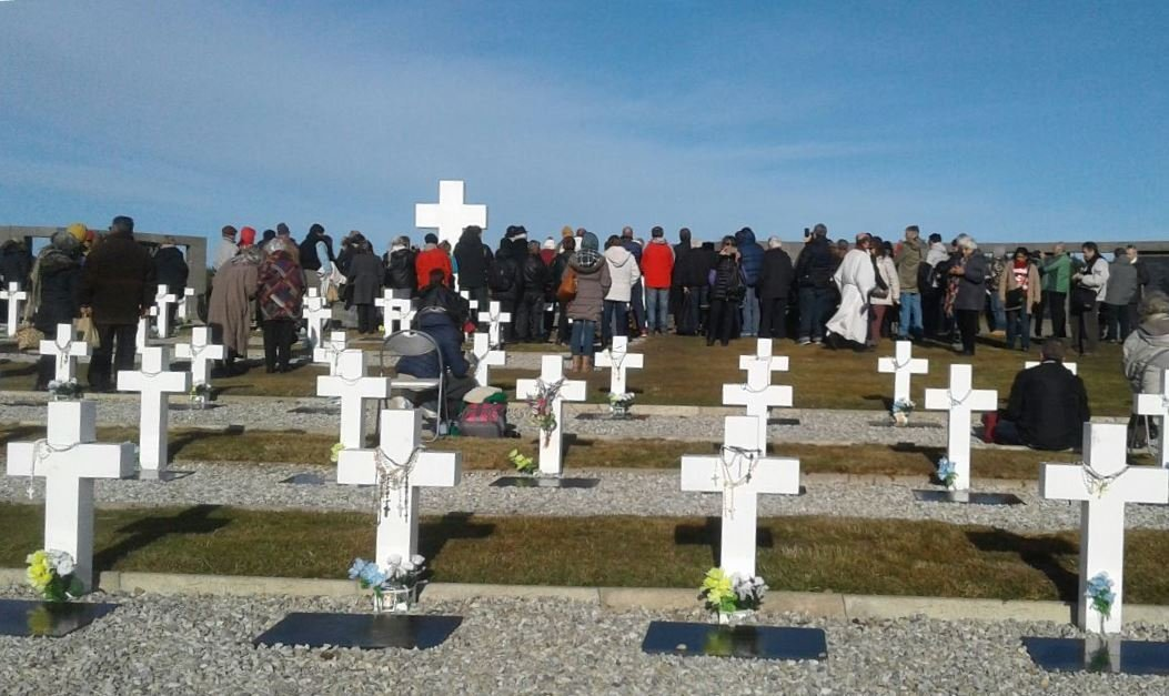 Cementerio de Darwin en Malvinas