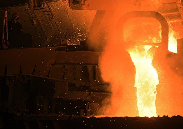 El horno Martin-Siemens en la planta de Vyksa