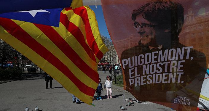 El retrato del expresidente catalán Carles Puigdemont