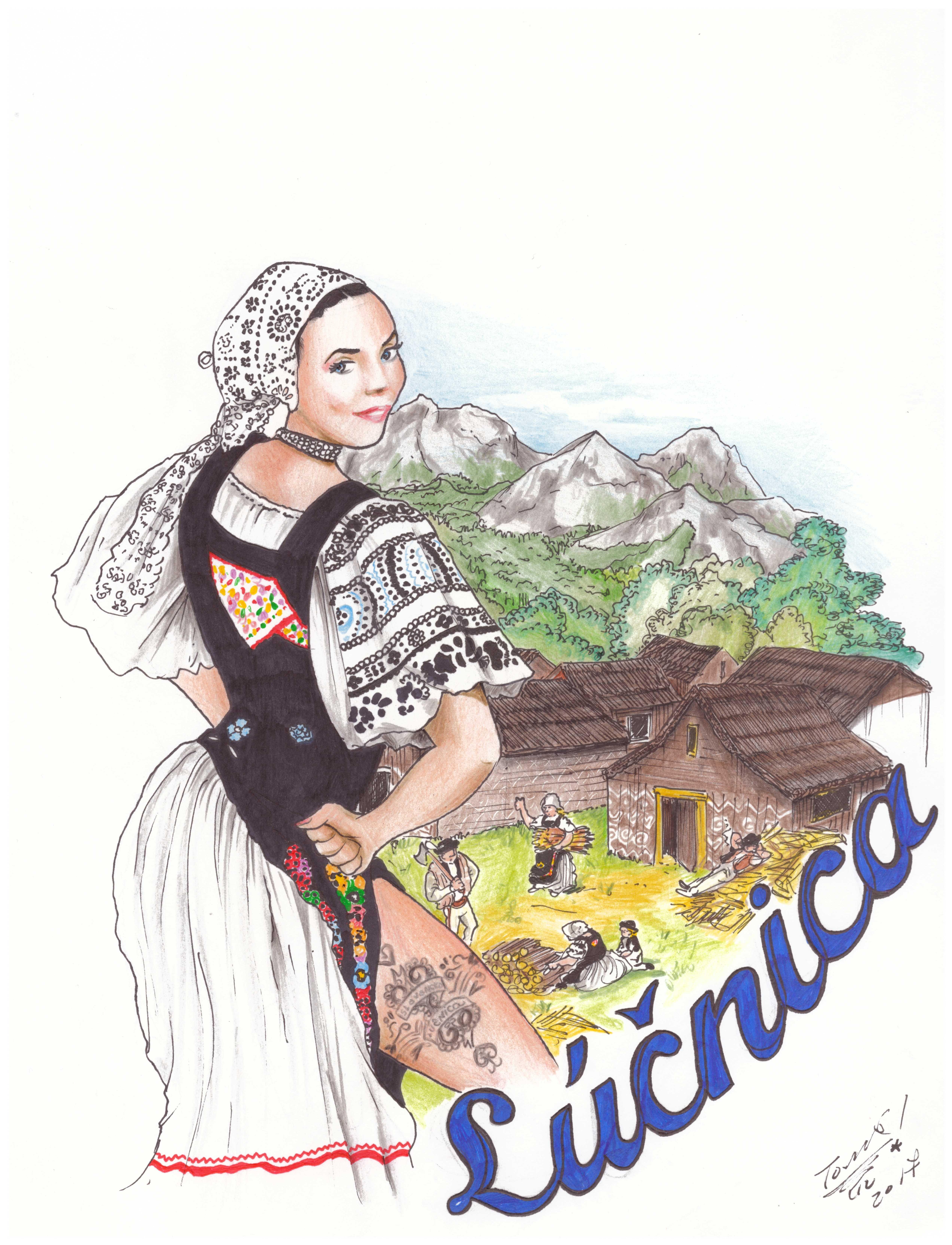 Una mujer eslovaca