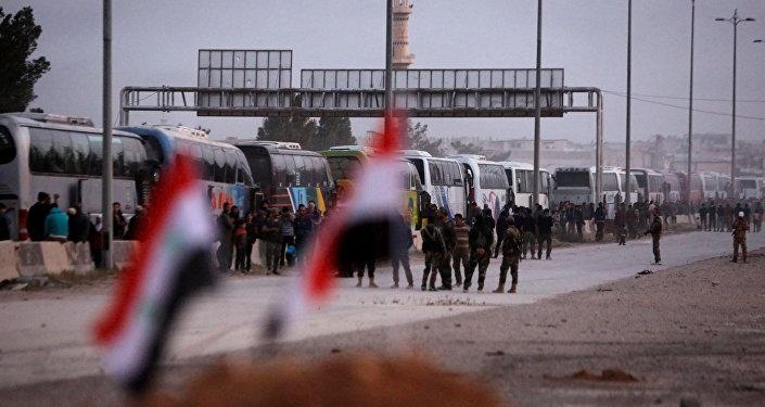 La evacuación de los rebeldes de Guta Oriental, Siria