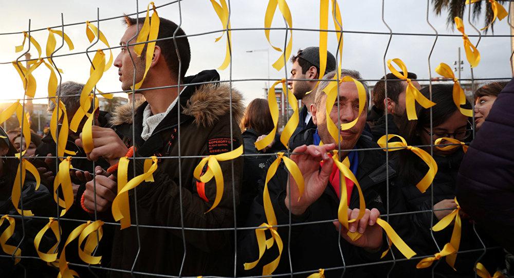 Manifestación por libertad de Puigdemont en Barcelona
