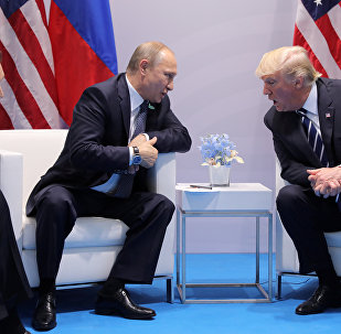 Vladímir Putin, presidente de Rusia, y Donald Trump, presidente de EEUU