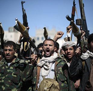Rebeldes hutíes en Yemen (archivo)