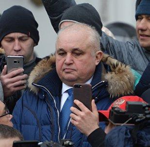 El gobernador en funciones de Kémerovo, Serguéi Tsiviliov