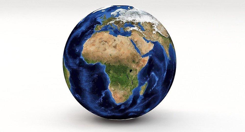 Continente africano, imagen satelital