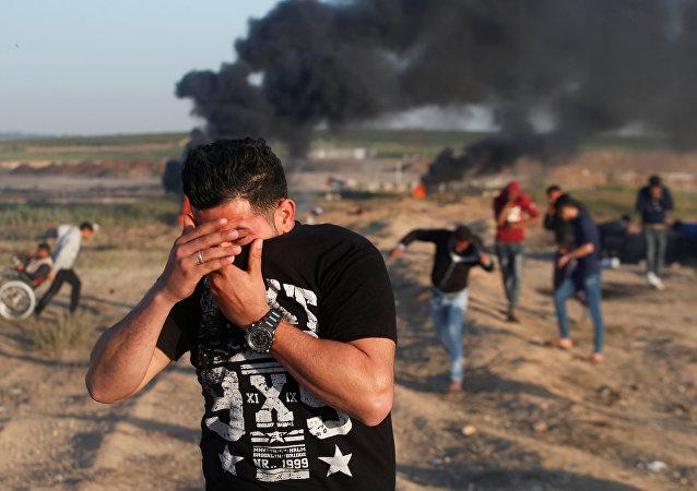 Enfrentamientos en la Franja de Gaza (archivo)
