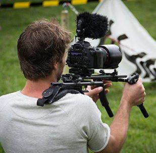 Un camarógrafo (imagen referencial)