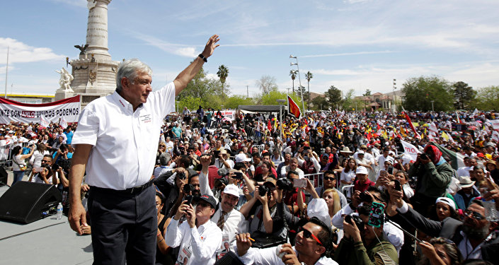 Andrés Manuel López Obrador, candidato de izquierda para las presidenciales en México