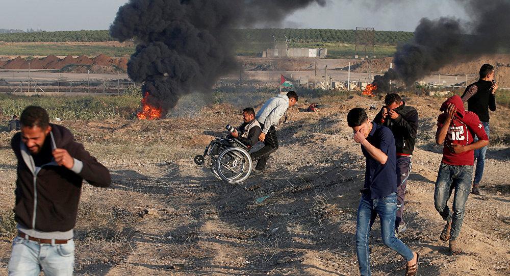 Enfrentamientos en la Franja de Gaza