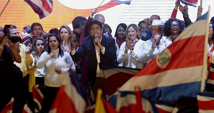 Carlos Alvarado, ganador de las elecciones presidenciales en Costa Rica