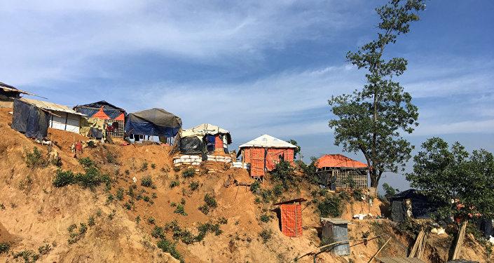 Campo de refugiados para los rohinyás en Banglades