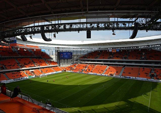 El estadio Ekaterinburg Arena en Ekaterimburgo, Rusia