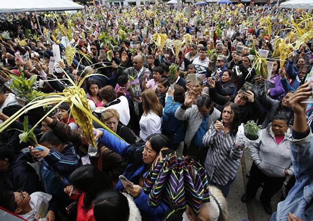 Celebración de Semana Santa en Colombia