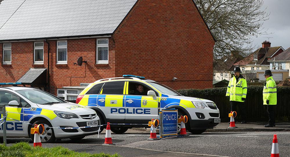 Policía británica cerca de la casa de Serguéi Skripal, Salisbury, Reino Unido