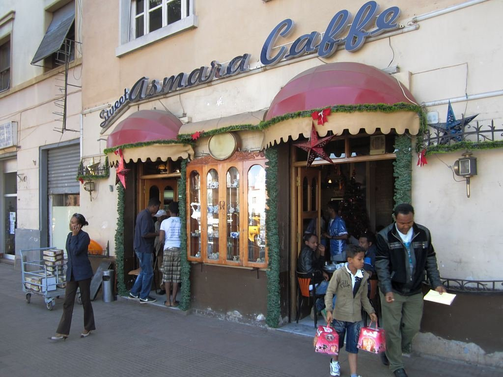 Un café en Asmara, la capital de Eritrea