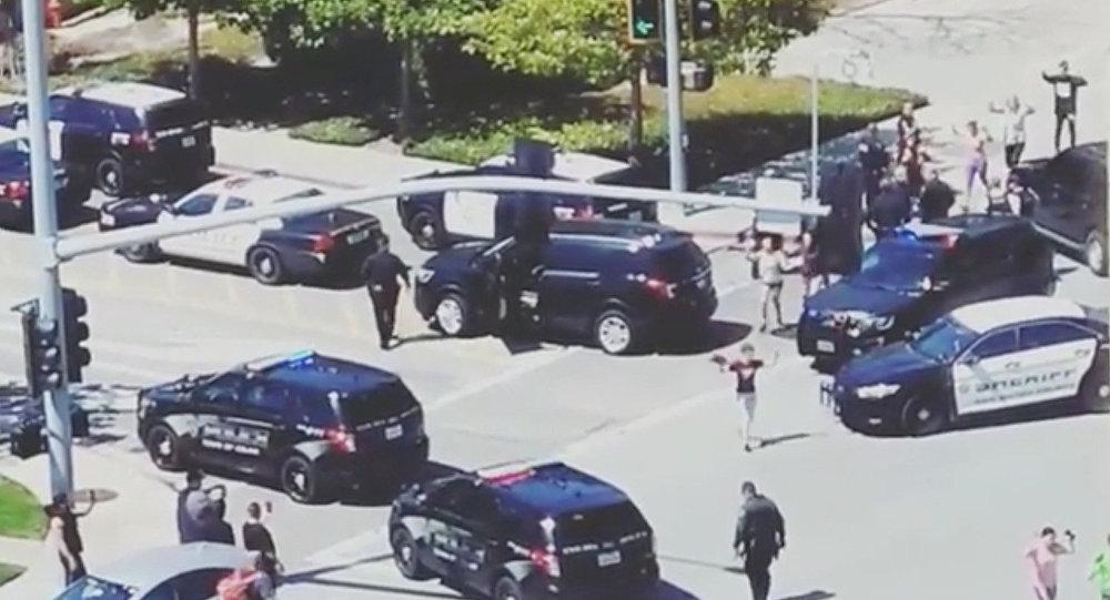 Lugar del tiroteo en la sede de Youtube en San Bruno, California