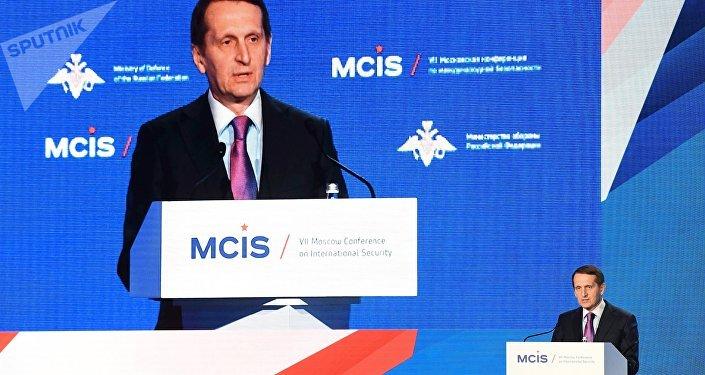 El director de la Inteligencia Exterior de Rusia, Serguéi Narishkin