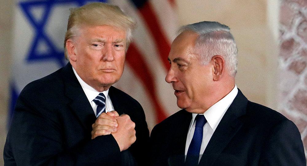 Presidente de EEUU, Donald Trump, y el primer ministro de Israel, Benjamin Netanyahu