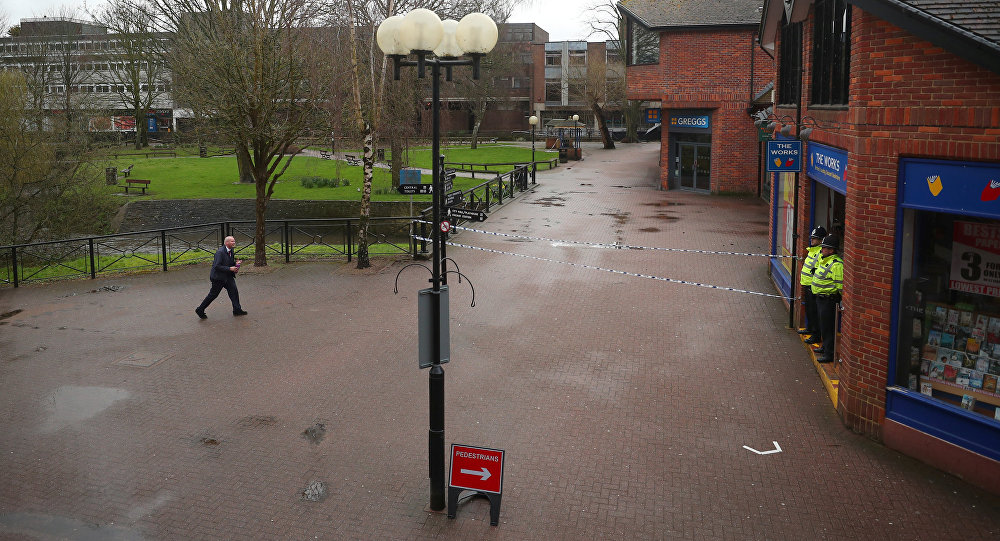 El lugar del envenenamiento de Serguéi Skripal, Salisbury, Reino Unido