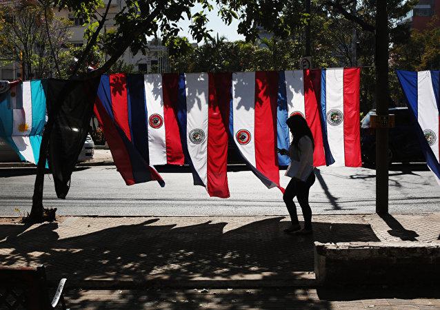 Banderas de Paraguay en Asunción