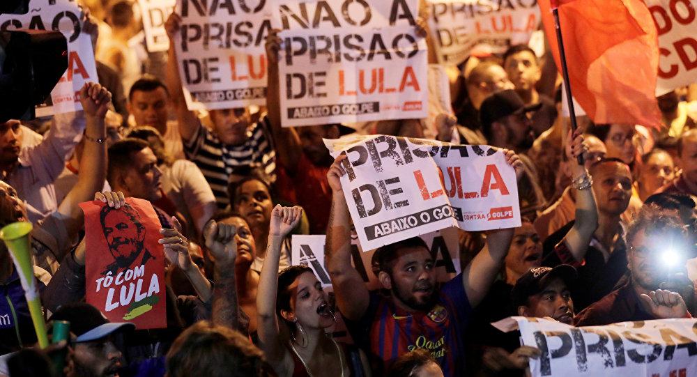 Una manifestación de apoyo a Luiz Inácio Lula da Silva, expresidente de Brasil