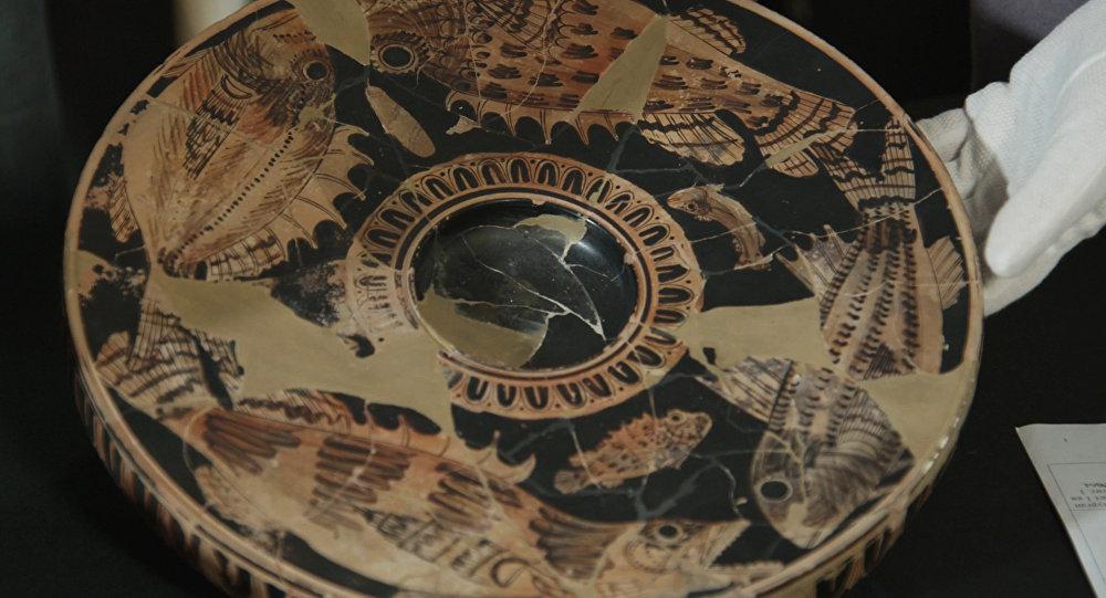 La cerámica encontrada en Yuz Oba