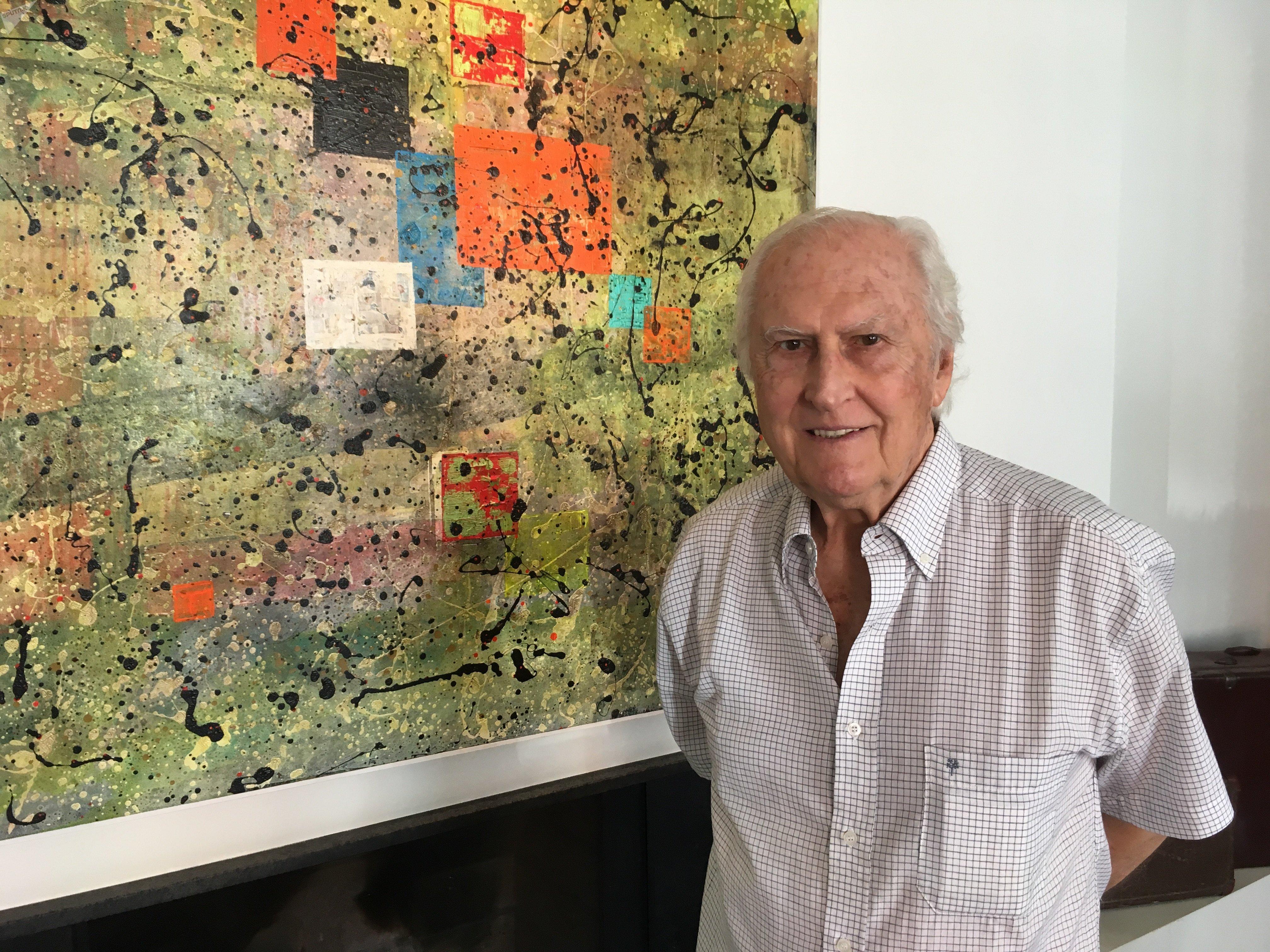 El senador de Argentina por la Ciudad de Buenos Aires, Fernando Pino Solanas.