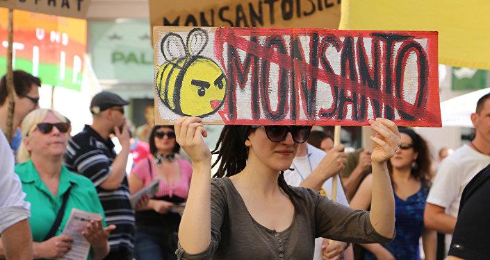 Una protesta contra Monsanto