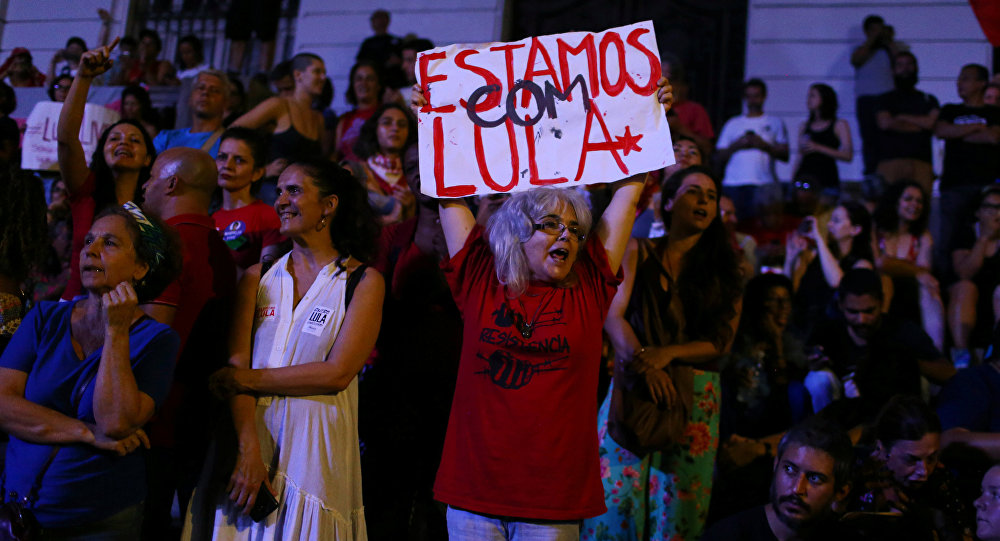 Los partidarios del expresidente de Brasil, Lula da Silva