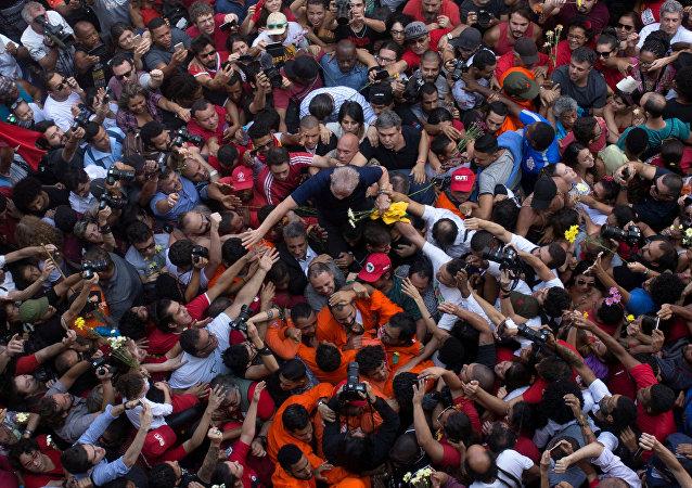 Lula da Silva, expresidente de Brasil, en São Bernardo do Campo