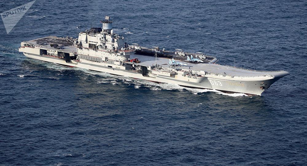 Portaviones ruso Almirante Kuznetsov (archivo)