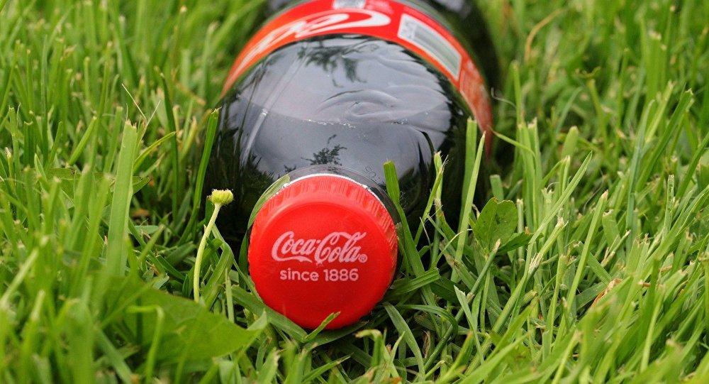 Una botela de Coca-Cola
