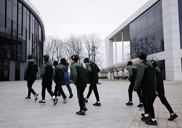 Alumnos de una escuela deportiva de Krasnodar