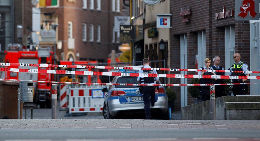 El lugar del atentado terrorista en Münster, Alemania
